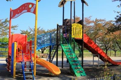 相川水辺公園へ行ってきた! 大型遊具のある公園   行ってきた!岐阜県観光と子どもの遊び場