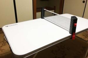 卓球セットを買った! 食卓テーブルやアウトドア用テーブルが卓球台に!