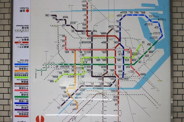 大阪駅地下鉄路線図
