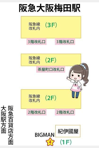 構内 駅 阪急 図 梅田