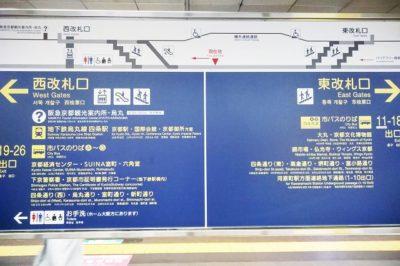 阪急烏丸駅の改札