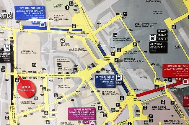 JR北新地駅マップ