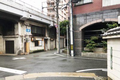 谷町線中崎町駅から「葉村温泉」への道順