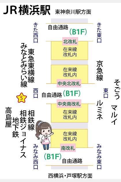 JR横浜駅待ち合わせ場所マップ