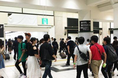 JR三ノ宮駅「中央口改札」前の様子