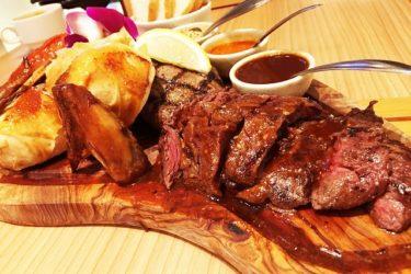 サラダ食べ放題、ドリンクバー付き、ボリュームたっぷりの肉料理! 「スコール東新宿店」へ行ってきた!
