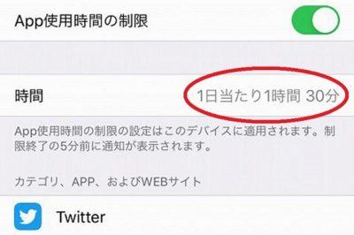 iPhoneでツイッターの利用時間を制限する方法