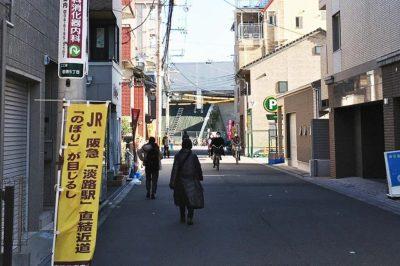 阪急淡路駅からJR淡路駅への道順
